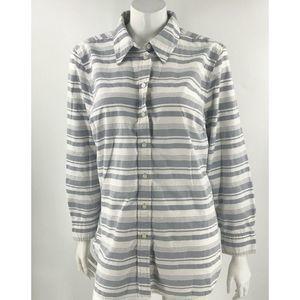 Lane Bryant Top Plus Size 18 Gray White Striped
